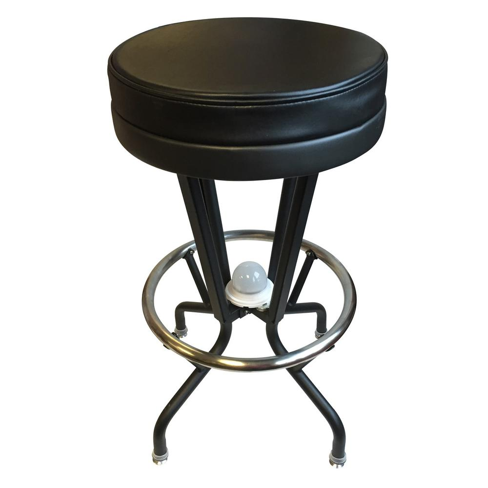 Lighted TCU Swivel Bar Stool. Picture 4