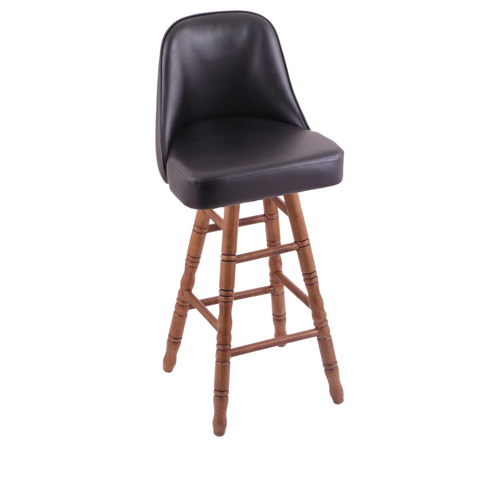 Grizzly Extra Tall Bar Stool With Turned Oak Legs Medium