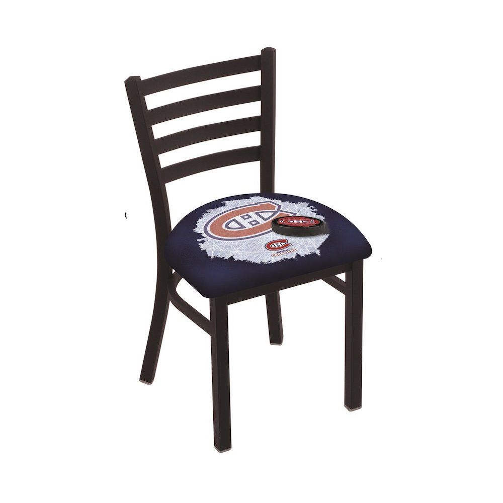 L00418 Black Wrinkle Montreal Canadiens Stationary Chair with Ladder Style Back by Holland Bar Stool Co.  sc 1 st  Bison Office & L00418 Black Wrinkle Montreal Canadiens Stationary Chair with Ladder ...