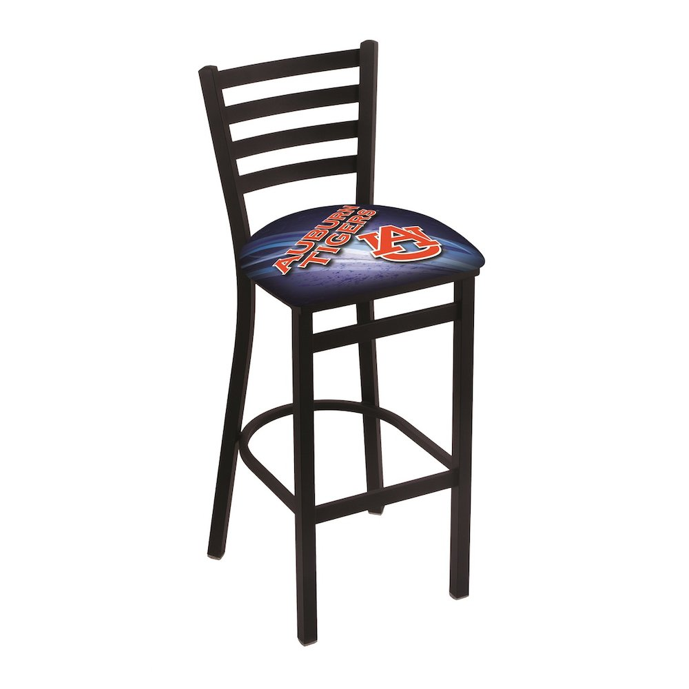 L004 30 Quot Black Wrinkle Auburn Stationary Bar Stool With