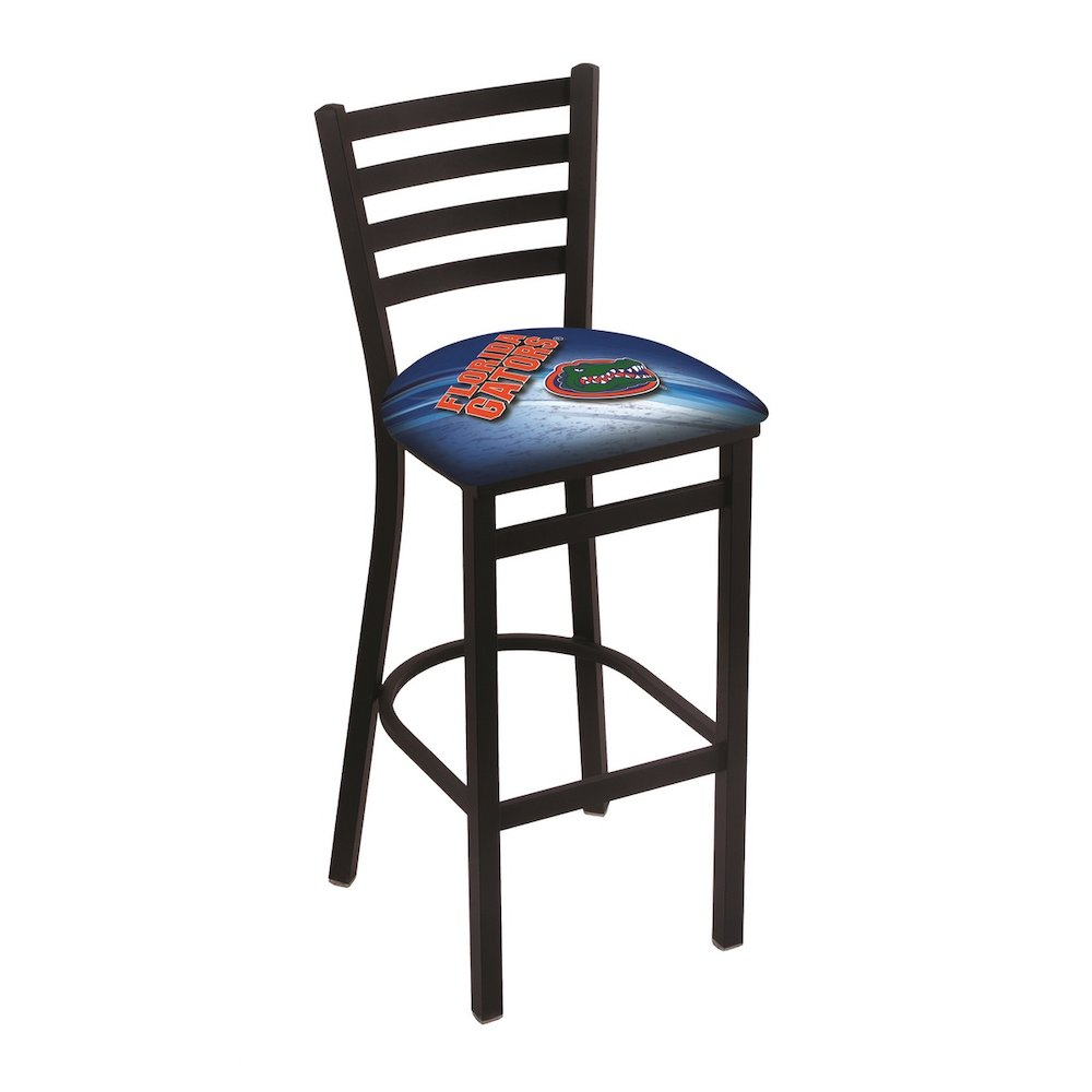 """L004 - 25"""" Black Wrinkle Florida Stationary Counter Stool with Ladder Style Back by Holland Bar Stool Co.. Picture 1"""