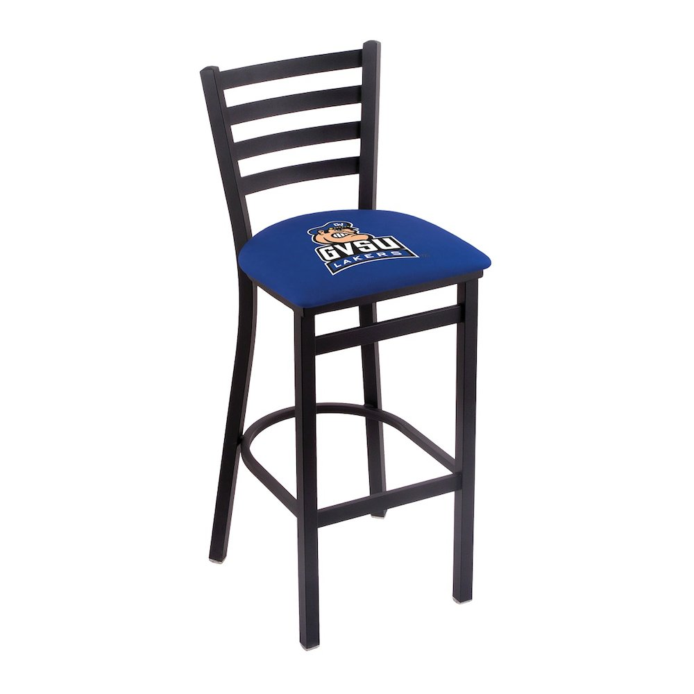 """L004 - 25"""" Black Wrinkle Grand Valley State Stationary Counter Stool with Ladder Style Back by Holland Bar Stool Co.. Picture 1"""