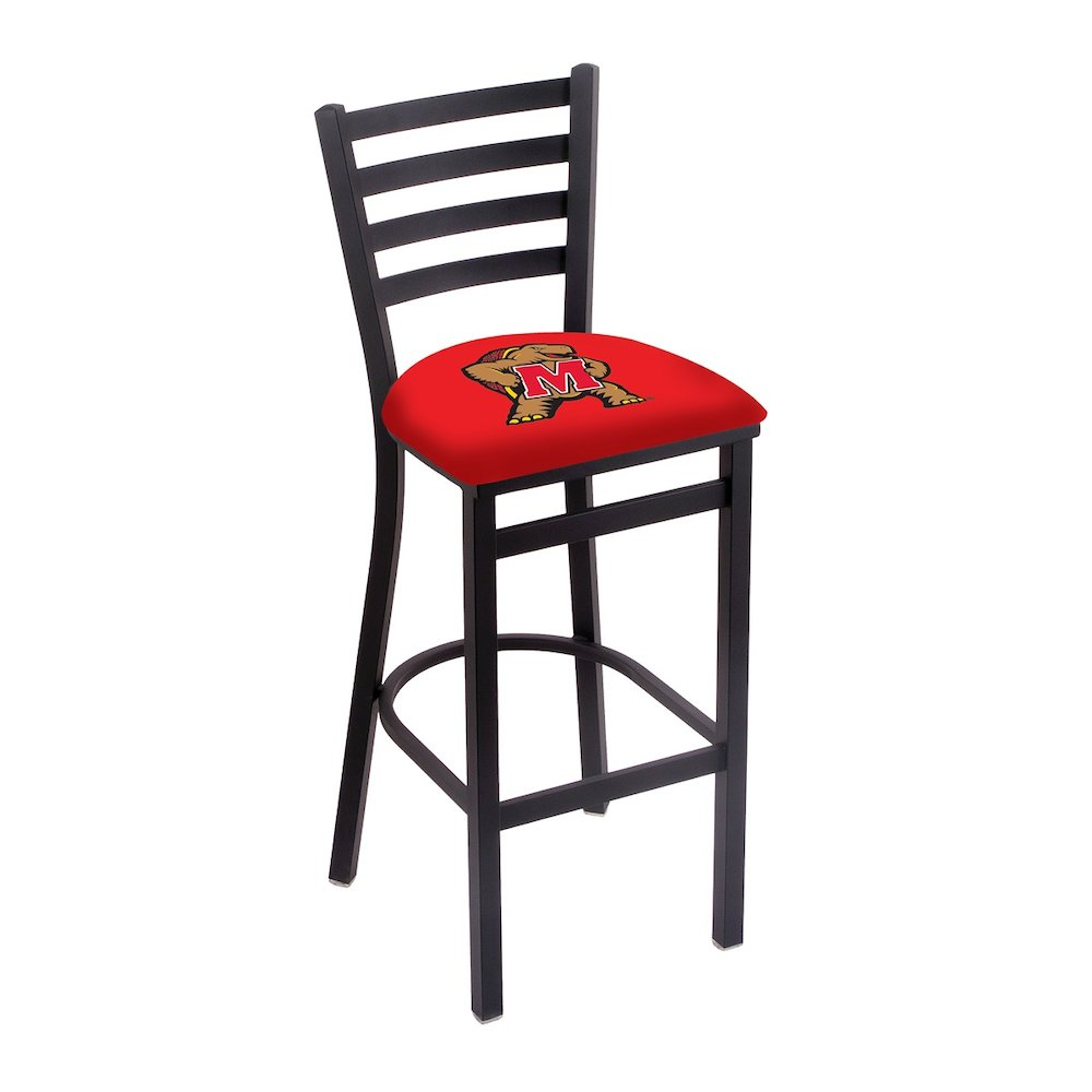 """L004 - 25"""" Black Wrinkle Maryland Stationary Counter Stool with Ladder Style Back by Holland Bar Stool Co.. Picture 1"""
