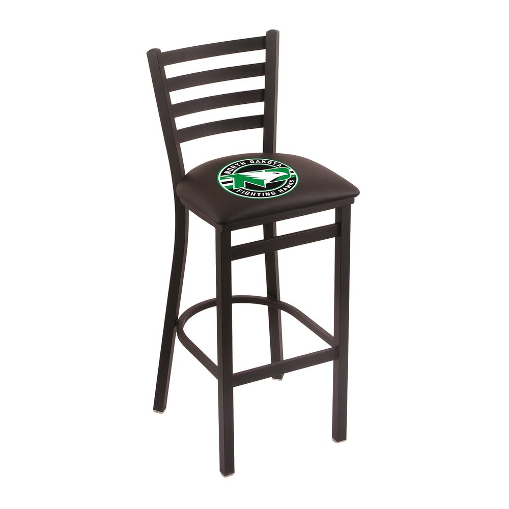 """L004 - 30"""" Black Wrinkle North Dakota Stationary Bar Stool with Ladder Style Back by Holland Bar Stool Co.. Picture 1"""
