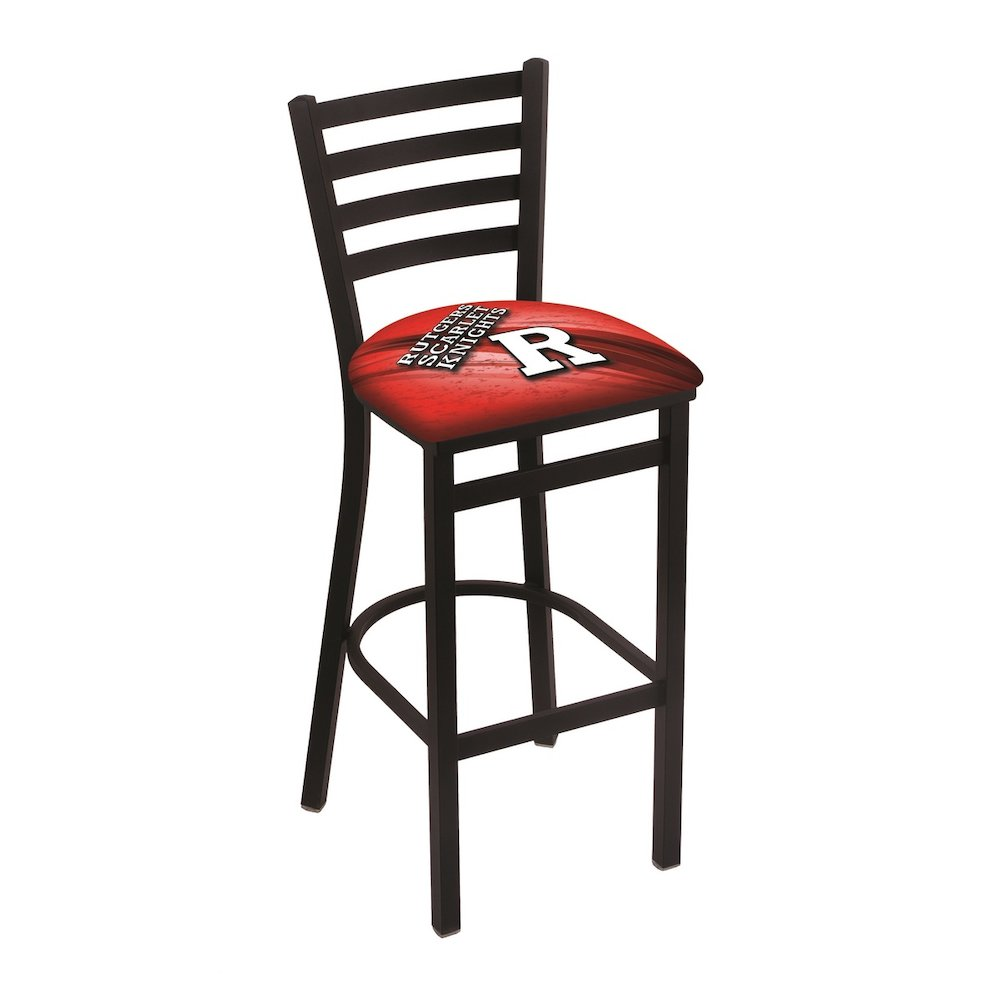 """L004 - 30"""" Black Wrinkle Rutgers Stationary Bar Stool with Ladder Style Back by Holland Bar Stool Co.. Picture 1"""