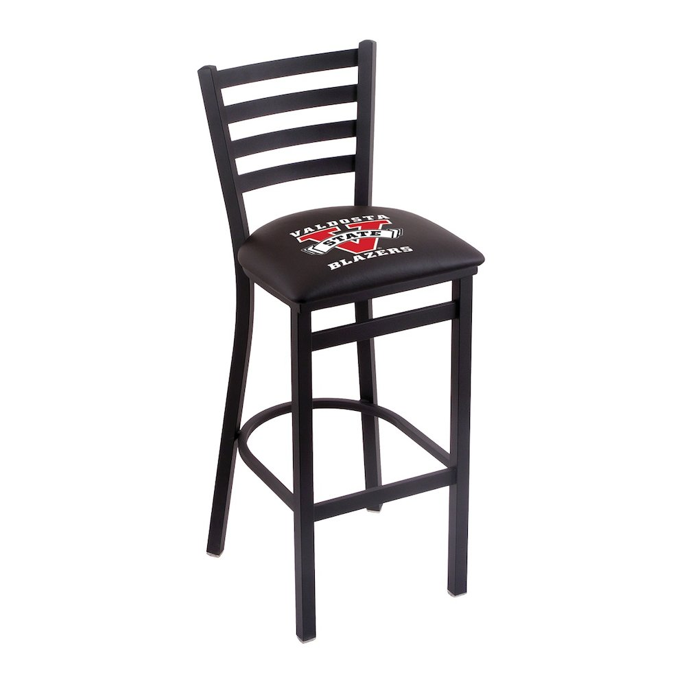 """L004 - 30"""" Black Wrinkle Valdosta State Stationary Bar Stool with Ladder Style Back by Holland Bar Stool Co.. Picture 1"""