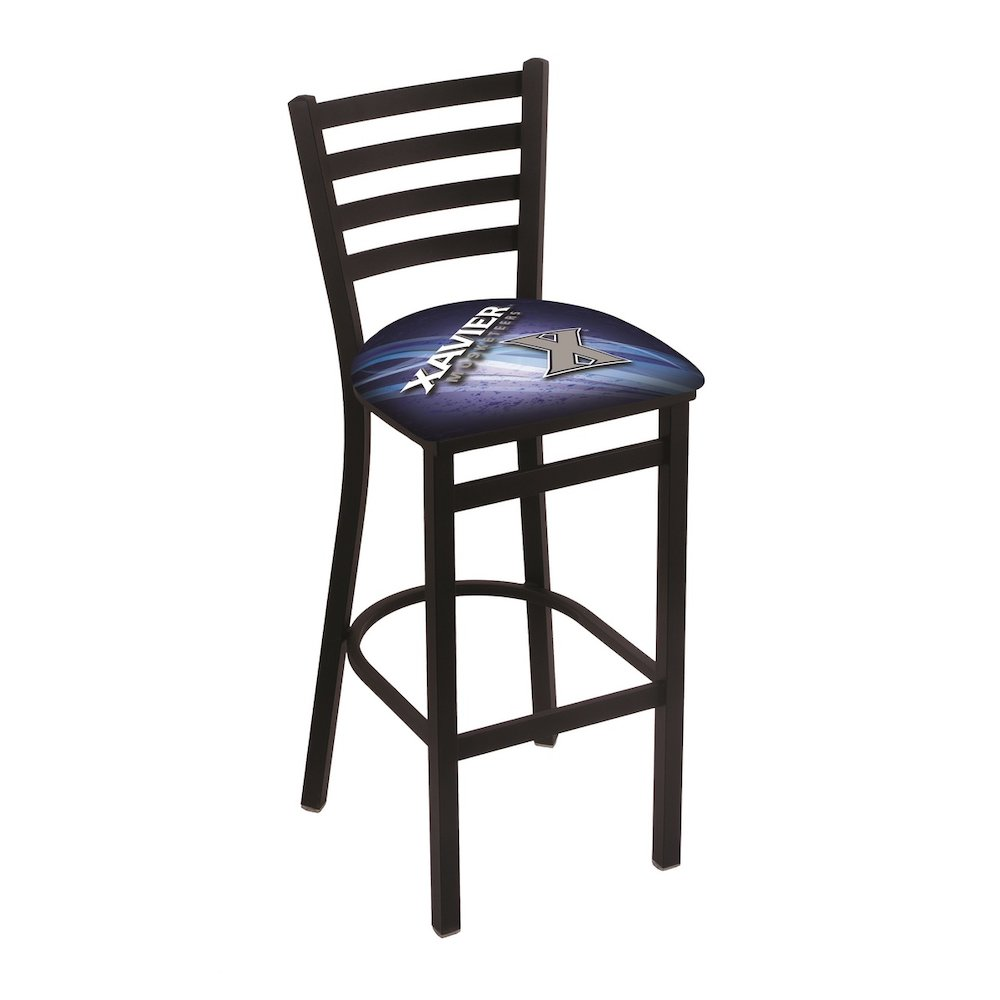 L004 30 Quot Black Wrinkle Xavier Stationary Bar Stool With