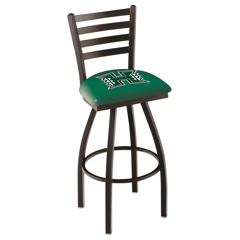 "L014 - 30"" Black Wrinkle Hawaii Swivel Bar Stool with Ladder Style Back by Holland Bar Stool Co.. Picture 1"