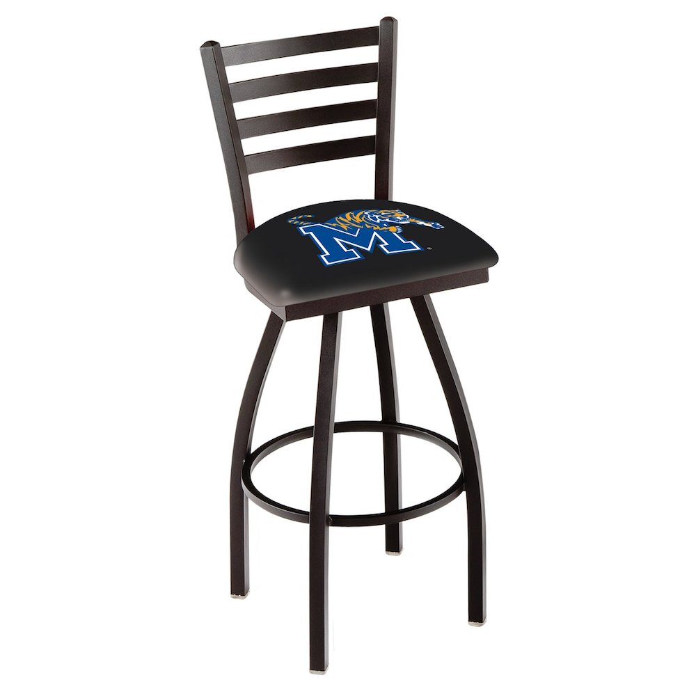 """L014 - 25"""" Black Wrinkle Memphis Swivel Bar Stool with Ladder Style Back by Holland Bar Stool Co.. Picture 1"""
