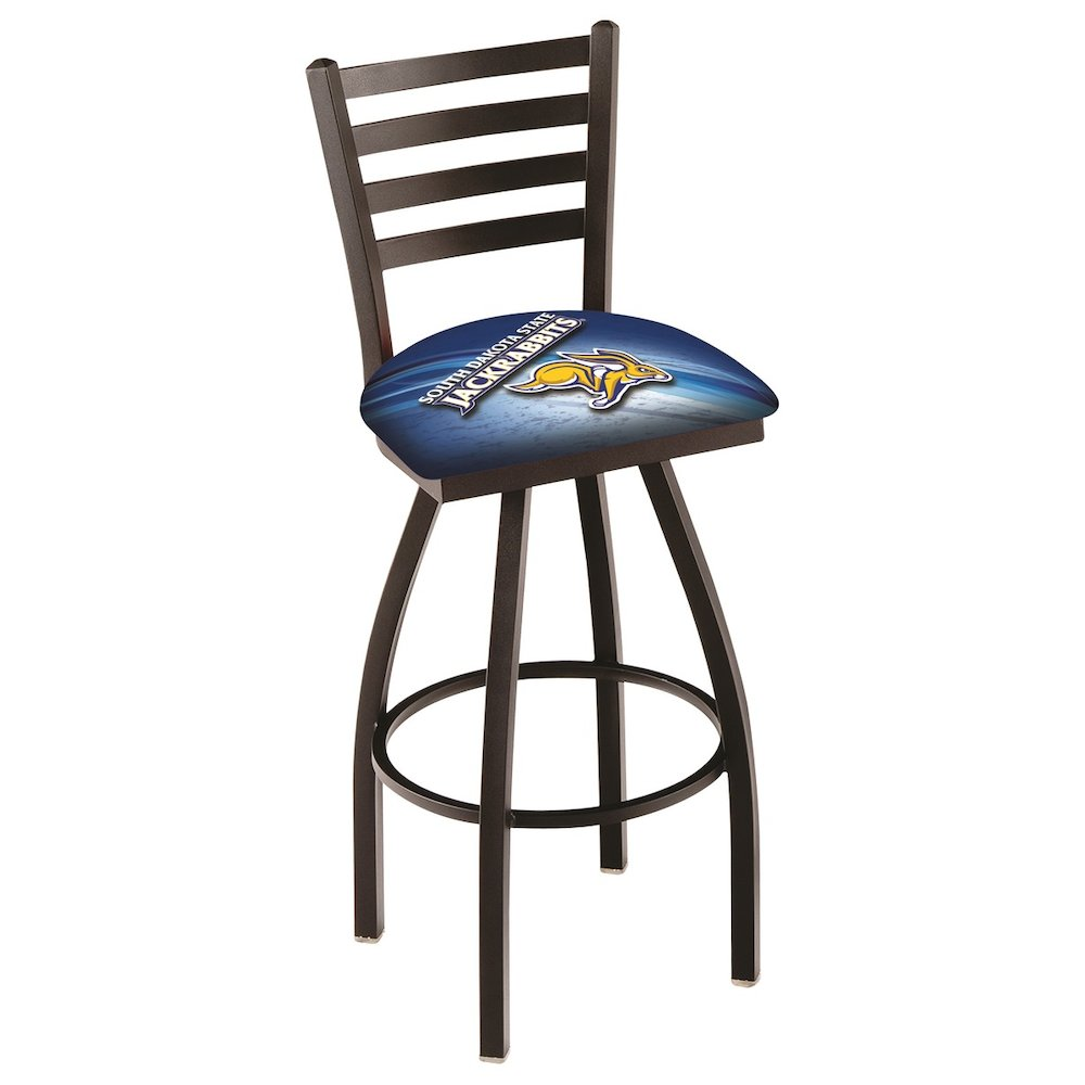 """L014 - 30"""" Black Wrinkle South Dakota State Swivel Bar Stool with Ladder Style Back by Holland Bar Stool Co.. Picture 1"""