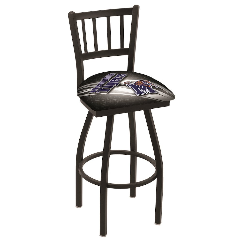 "L018 - 25"" Black Wrinkle Memphis Swivel Bar Stool with Jailhouse Style Back by Holland Bar Stool Co.. Picture 1"