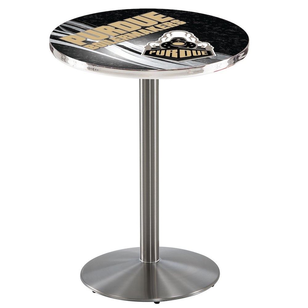L214 36 Quot Stainless Steel Purdue Pub Table With 36 Quot Dia