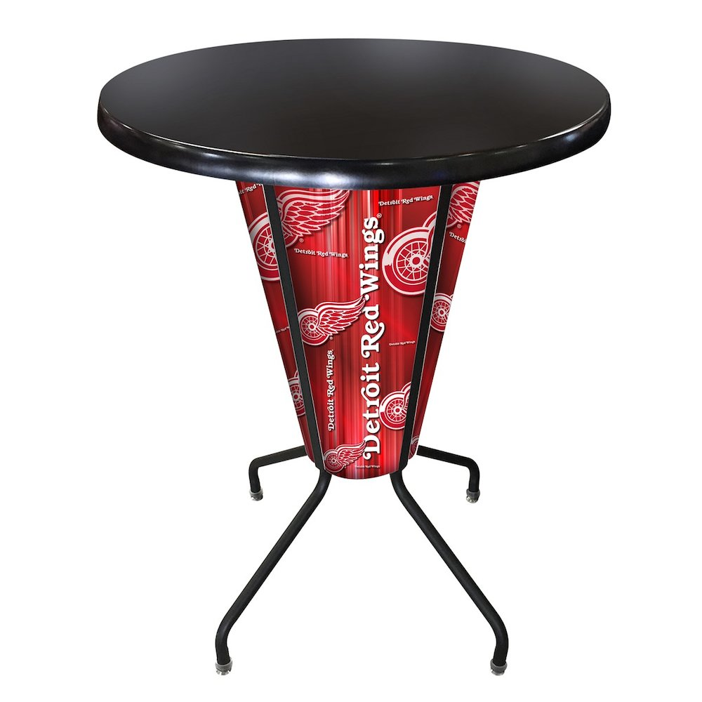 Lighted Detroit Red Wings Pub Table