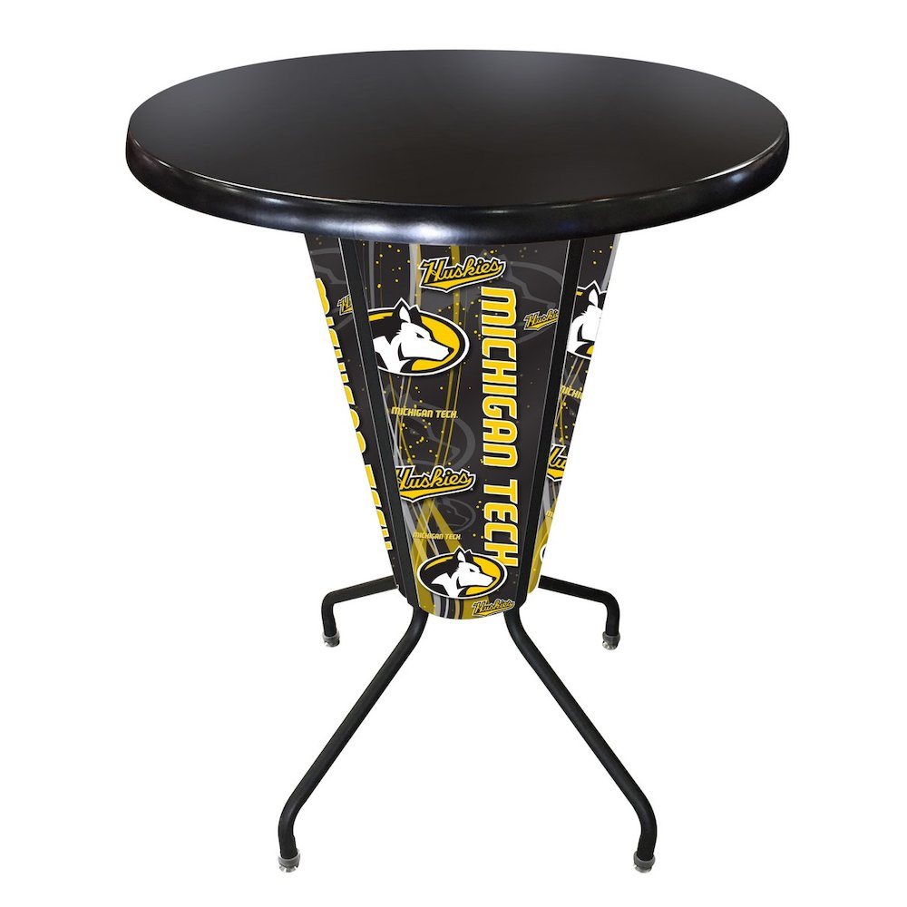 Lighted Michigan Tech Pub Table