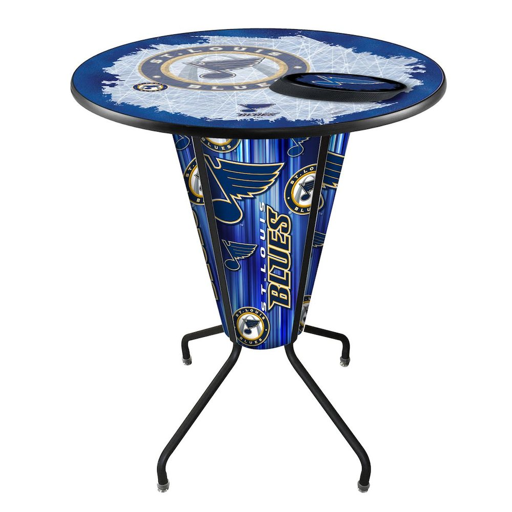 Lighted St Louis Blues Pub Table