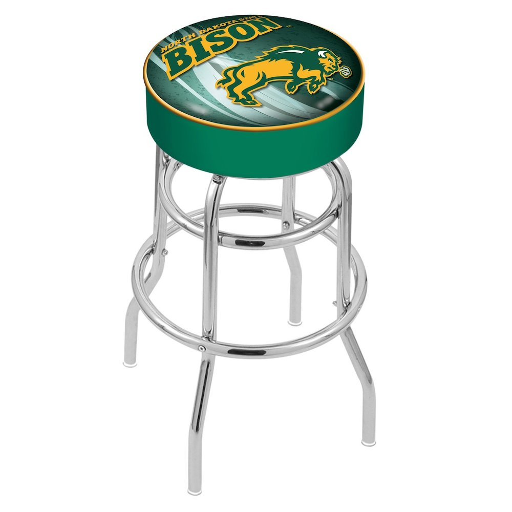 """25"""" L7C1 - 4"""" North Dakota State Cushion Seat with Double-Ring Chrome Base Swivel Bar Stool by Holland Bar Stool Company. Picture 1"""