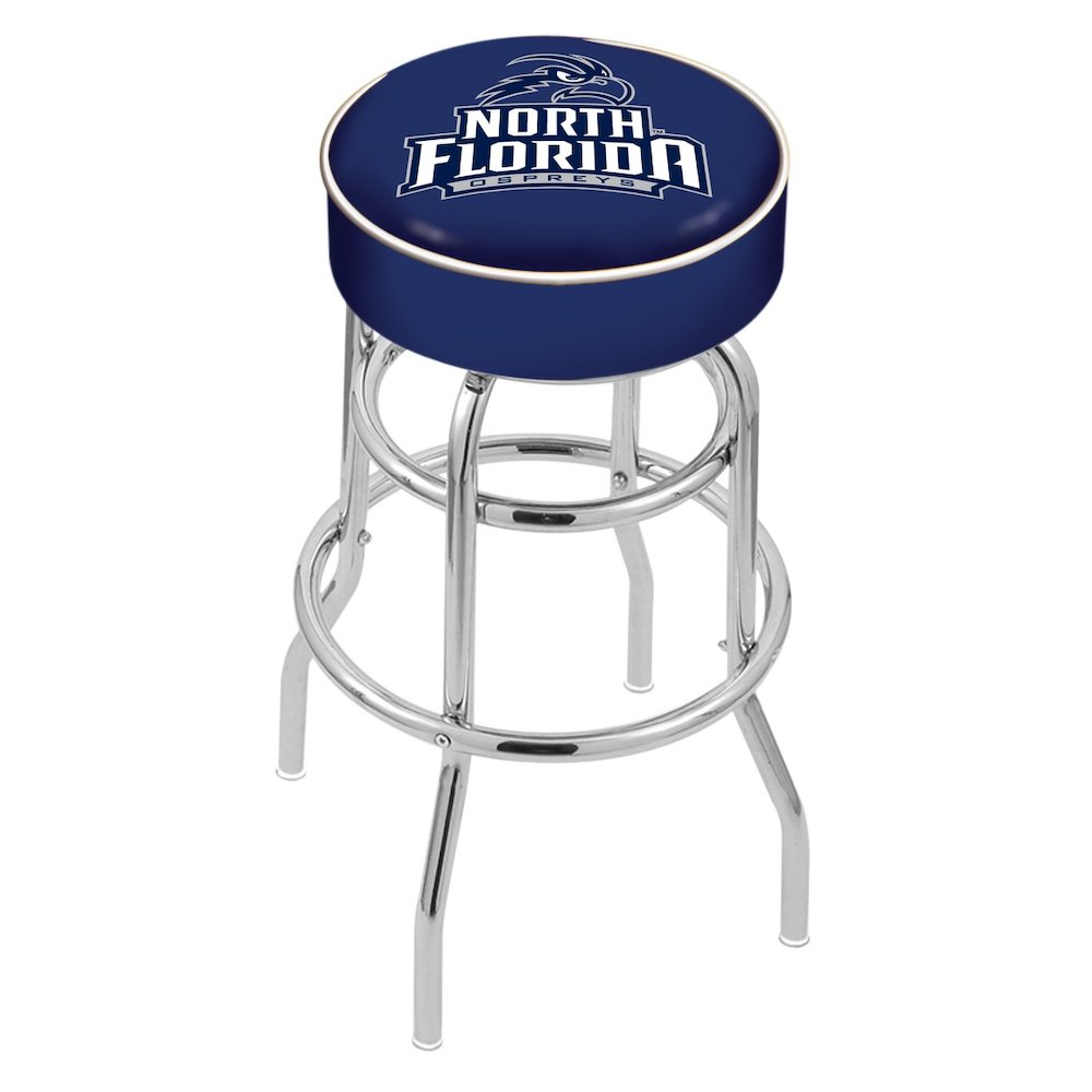 "25"" L7C1 - 4"" North Florida Cushion Seat with Double-Ring Chrome Base Swivel Bar Stool by Holland Bar Stool Company. Picture 1"