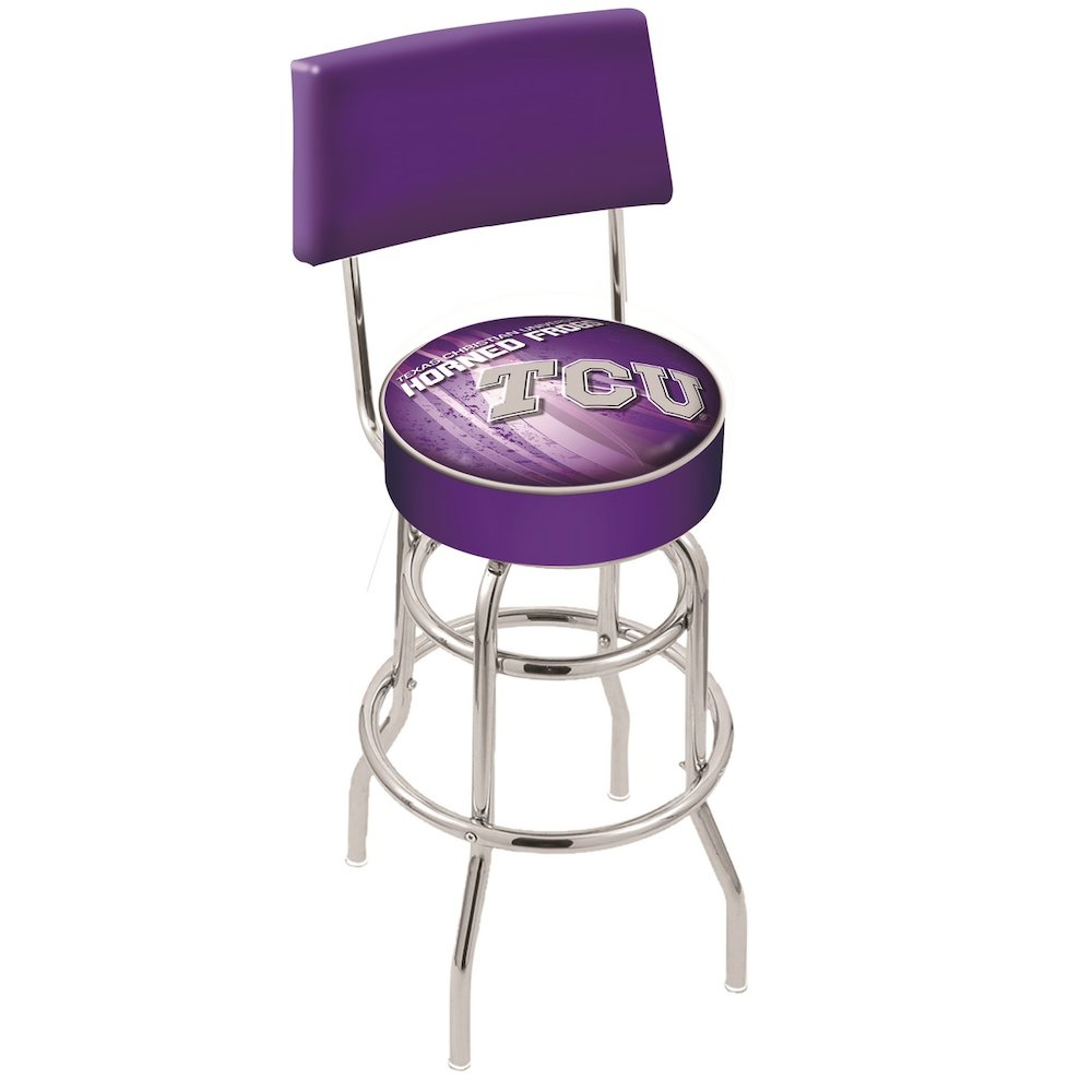 25 Quot L7c4 Chrome Double Ring Tcu Swivel Bar Stool With A