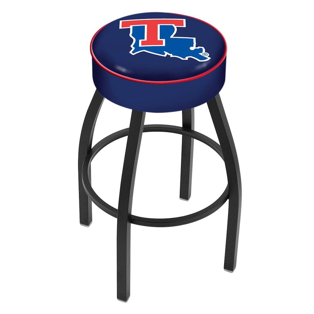 "30"" L8B1 - 4"" Louisiana Tech Cushion Seat with Black Wrinkle Base Swivel Bar Stool by Holland Bar Stool Company. Picture 1"