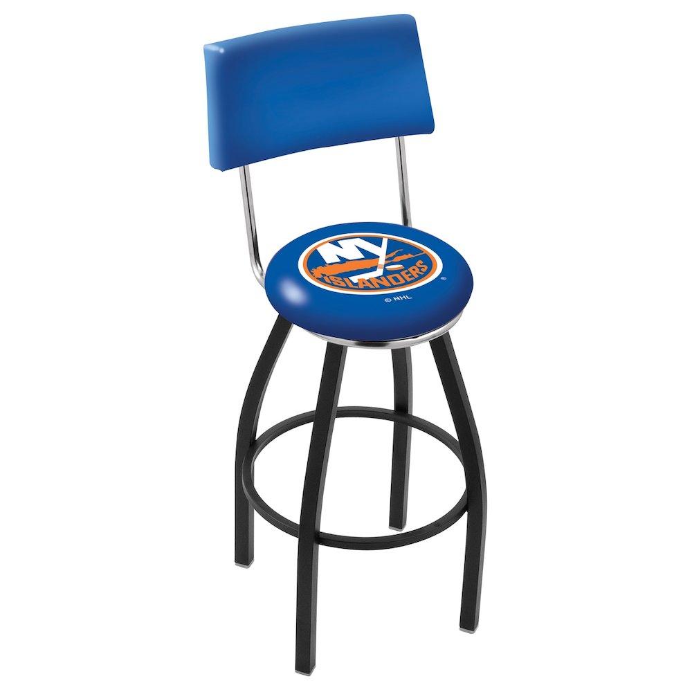 25 Quot L8b4 Black Wrinkle New York Islanders Swivel Bar