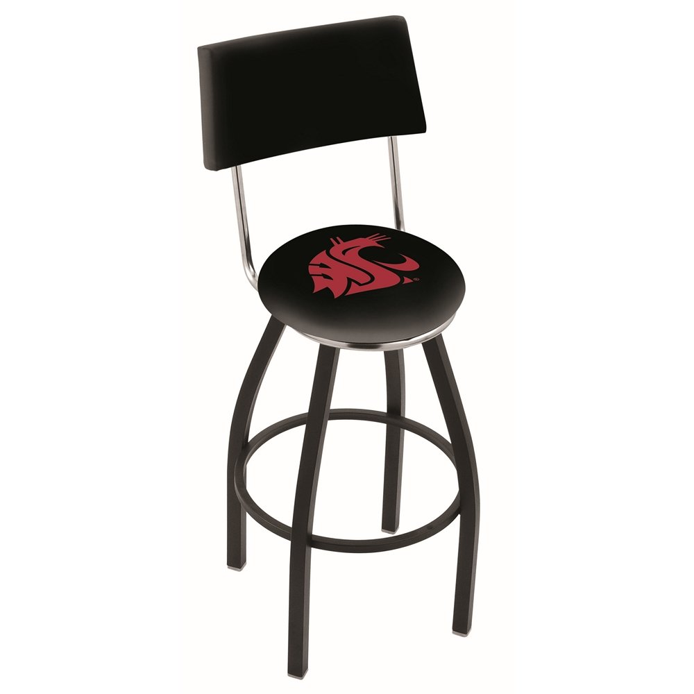 30 Quot L8b4 Black Wrinkle Washington State Swivel Bar Stool