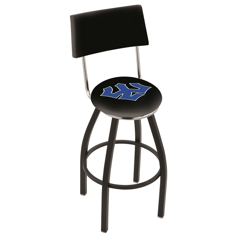 30 Quot L8b4 Black Wrinkle Washington Amp Lee Swivel Bar Stool