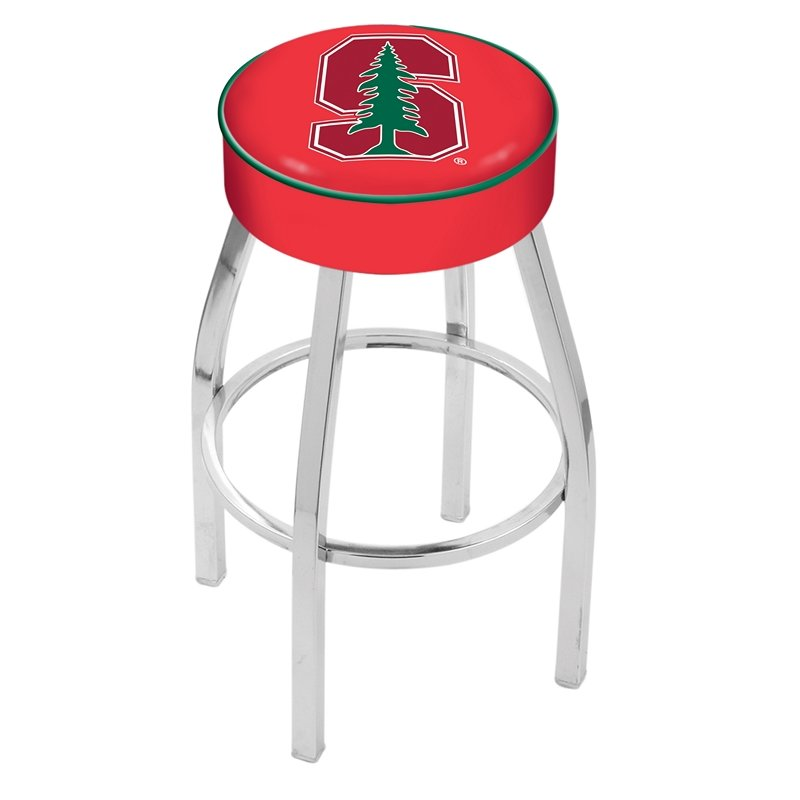 """30"""" L8C1 - 4"""" Stanford Cushion Seat with Chrome Base Swivel Bar Stool by Holland Bar Stool Company. Picture 1"""