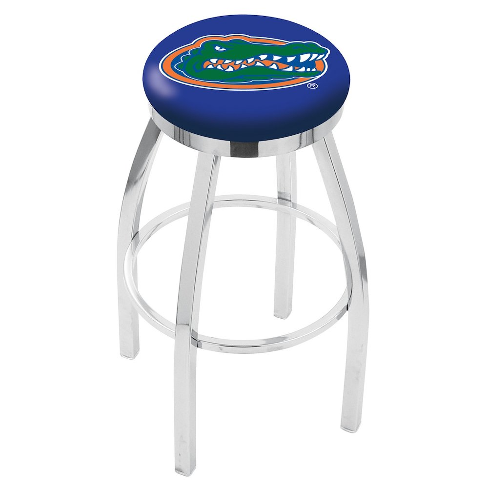 """25"""" L8C2C - Chrome Florida Swivel Bar Stool with Accent Ring by Holland Bar Stool Company. Picture 1"""