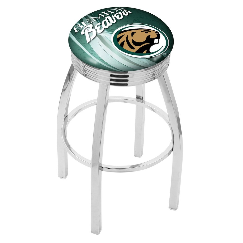 30 Quot L8c3c Chrome Bemidji State Swivel Bar Stool With 2 5