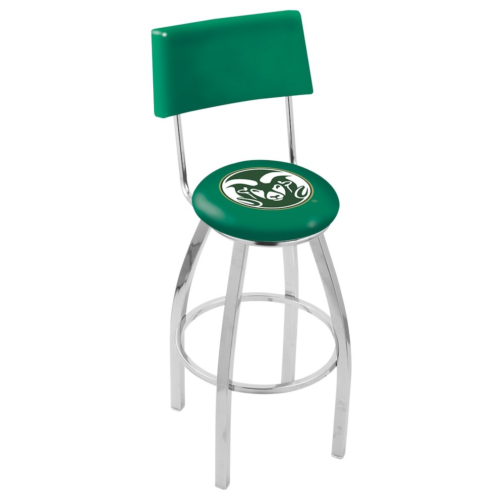 Tremendous 25 L8C4 Chrome Colorado State Swivel Bar Stool With A Back By Holland Bar Stool Company Ncnpc Chair Design For Home Ncnpcorg