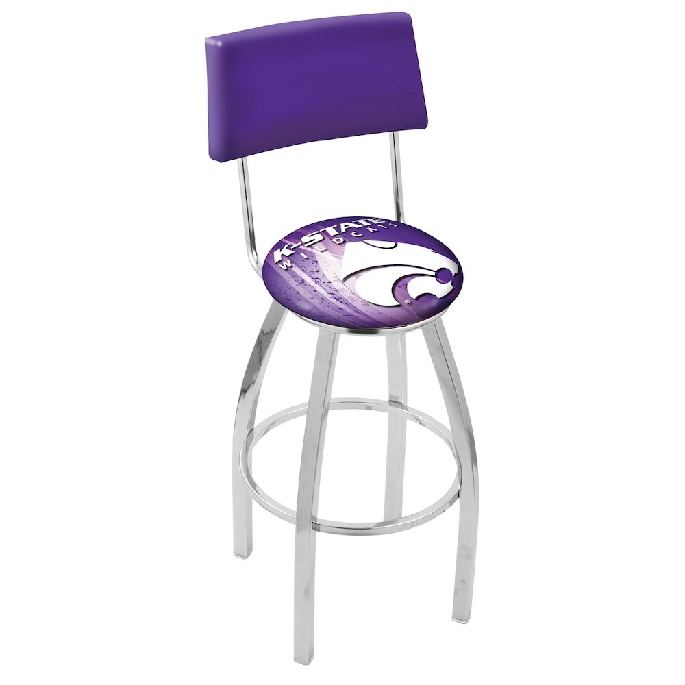 25 Quot L8c4 Chrome Kansas State Swivel Bar Stool With A