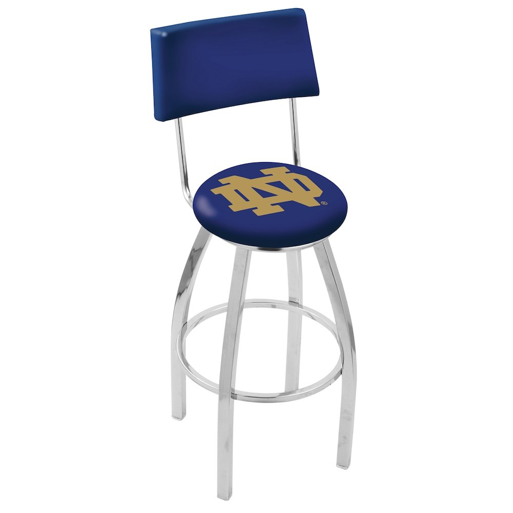 30 Quot L8c4 Chrome Notre Dame Nd Swivel Bar Stool With A