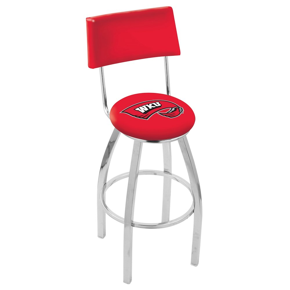 25 Quot L8c4 Chrome Western Kentucky Swivel Bar Stool With A
