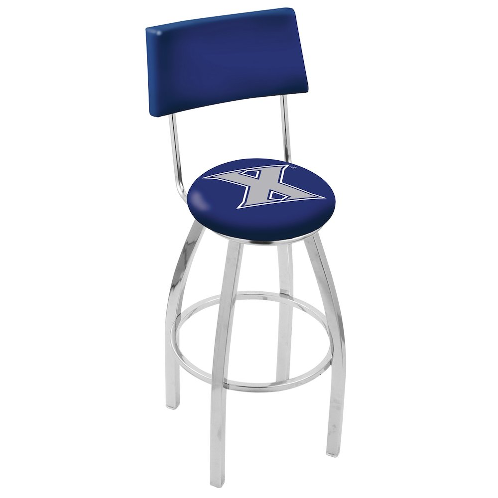 """30"""" L8C4 - Chrome Xavier Swivel Bar Stool with a Back by Holland Bar Stool Company. Picture 1"""