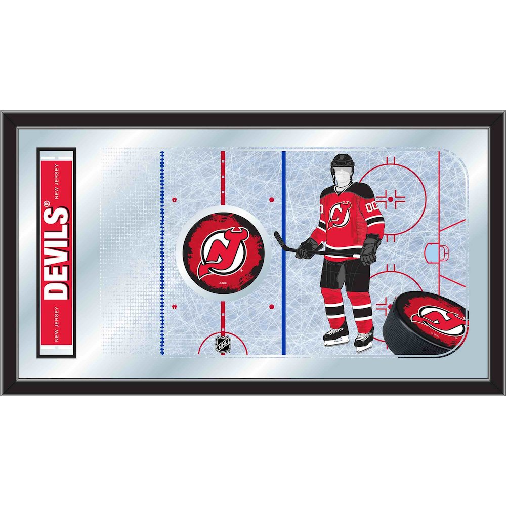 New Jersey Devils 15 Quot X 26 Quot Hockey Rink Mirror By Holland