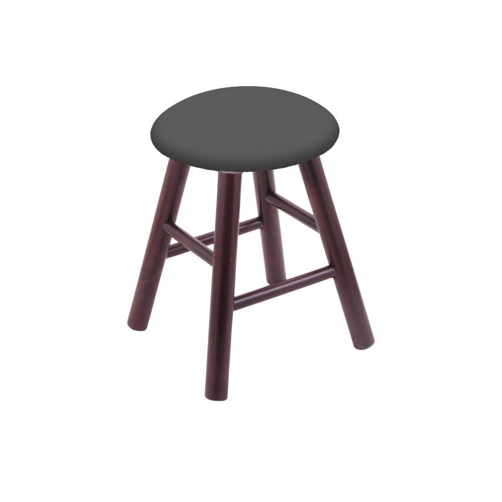 Maple Vanity Stool in Dark Cherry Finish with Canter Storm Seat. The main picture.