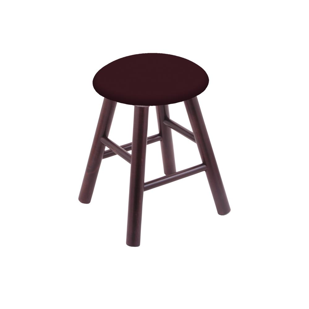 Maple Vanity Stool in Dark Cherry Finish with Canter Bordeaux Seat. Picture 1