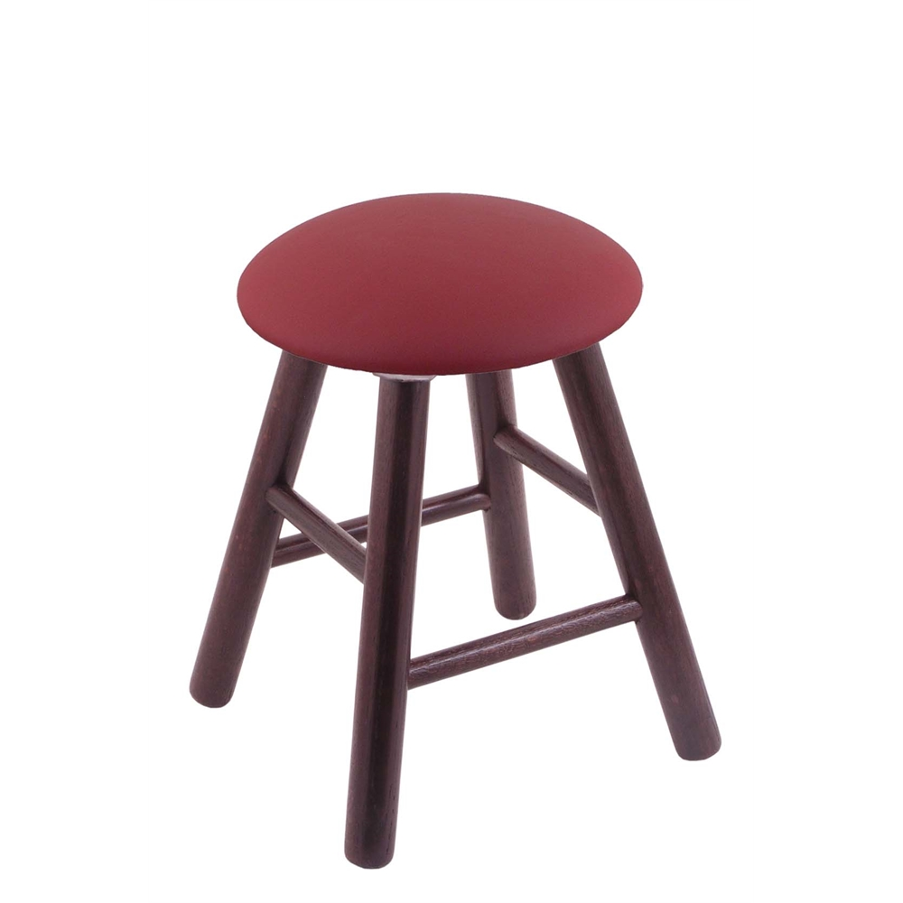Oak Round Cushion Vanity Stool With Smooth Legs Dark Cherry Finish Allante Wine Seat And 360 Swivel By Holland Bar