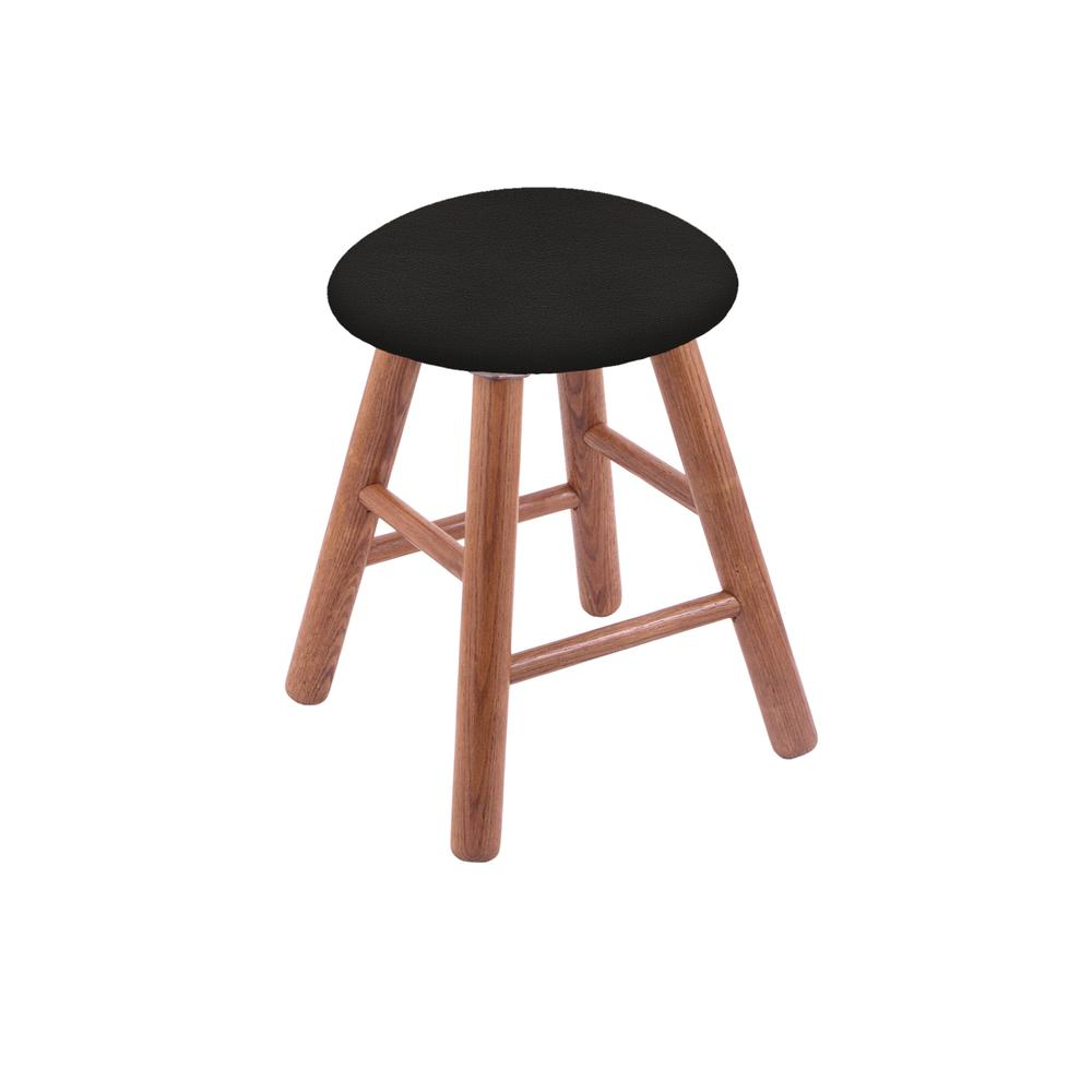 Oak Vanity Stool in Medium Finish with Canter Espresso Seat. Picture 1