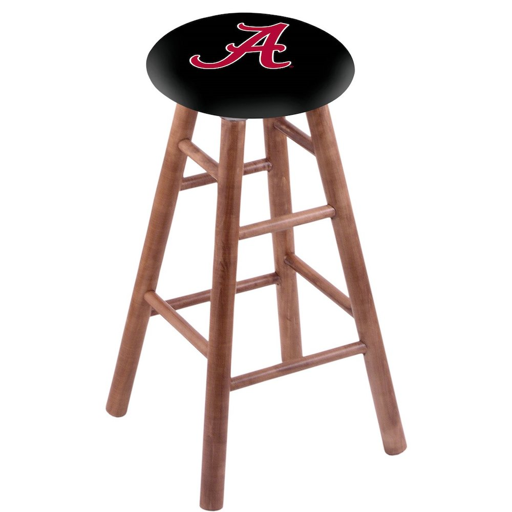 Maple Counter Stool in Medium Finish with Alabama Seat. Picture 1