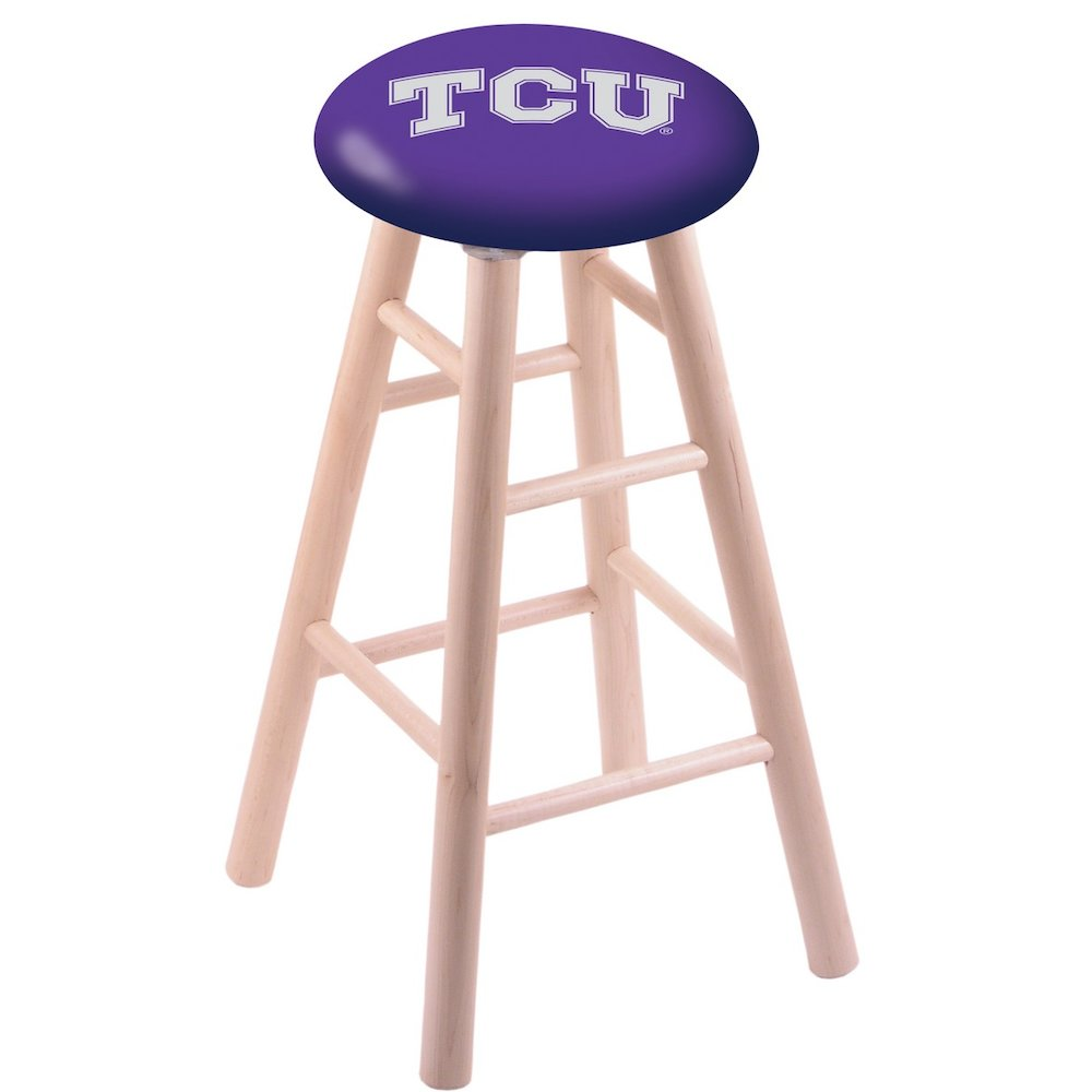 Maple Vanity Stool in Natural Finish with TCU Seat. Picture 1