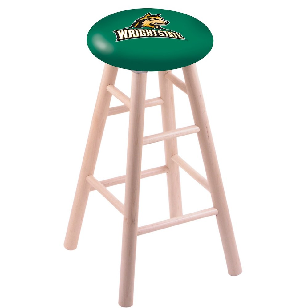 Maple Extra Tall Bar Stool in Natural Finish with Wright State Seat. Picture 1