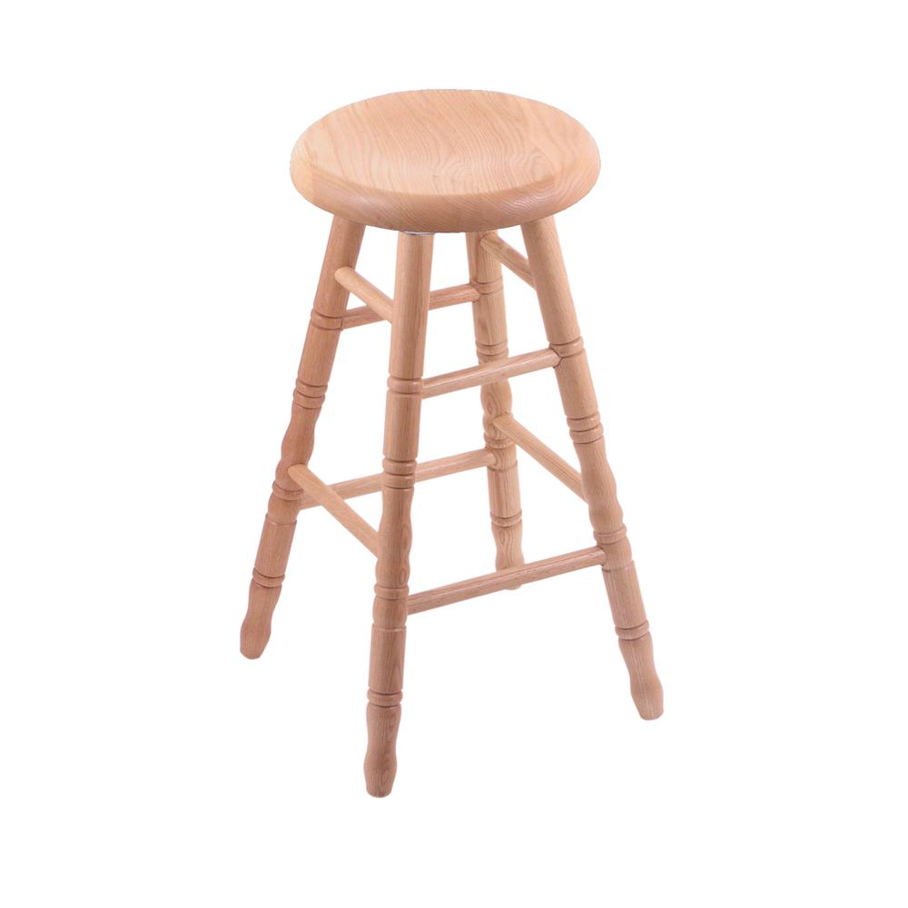 Xl Oak Bar Stool In Natural Finish