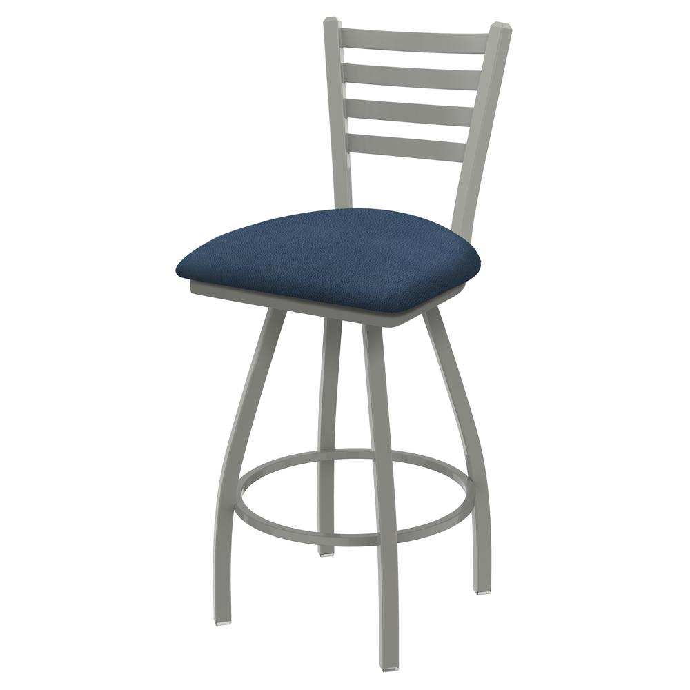 """XL 410 Jackie 25"""" Swivel Counter Stool with Anodized Nickel Finish and Rein Bay Seat. Picture 1"""