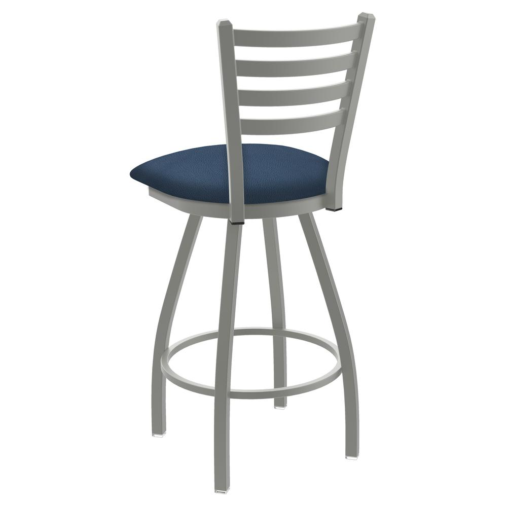 """XL 410 Jackie 25"""" Swivel Counter Stool with Anodized Nickel Finish and Rein Bay Seat. Picture 3"""