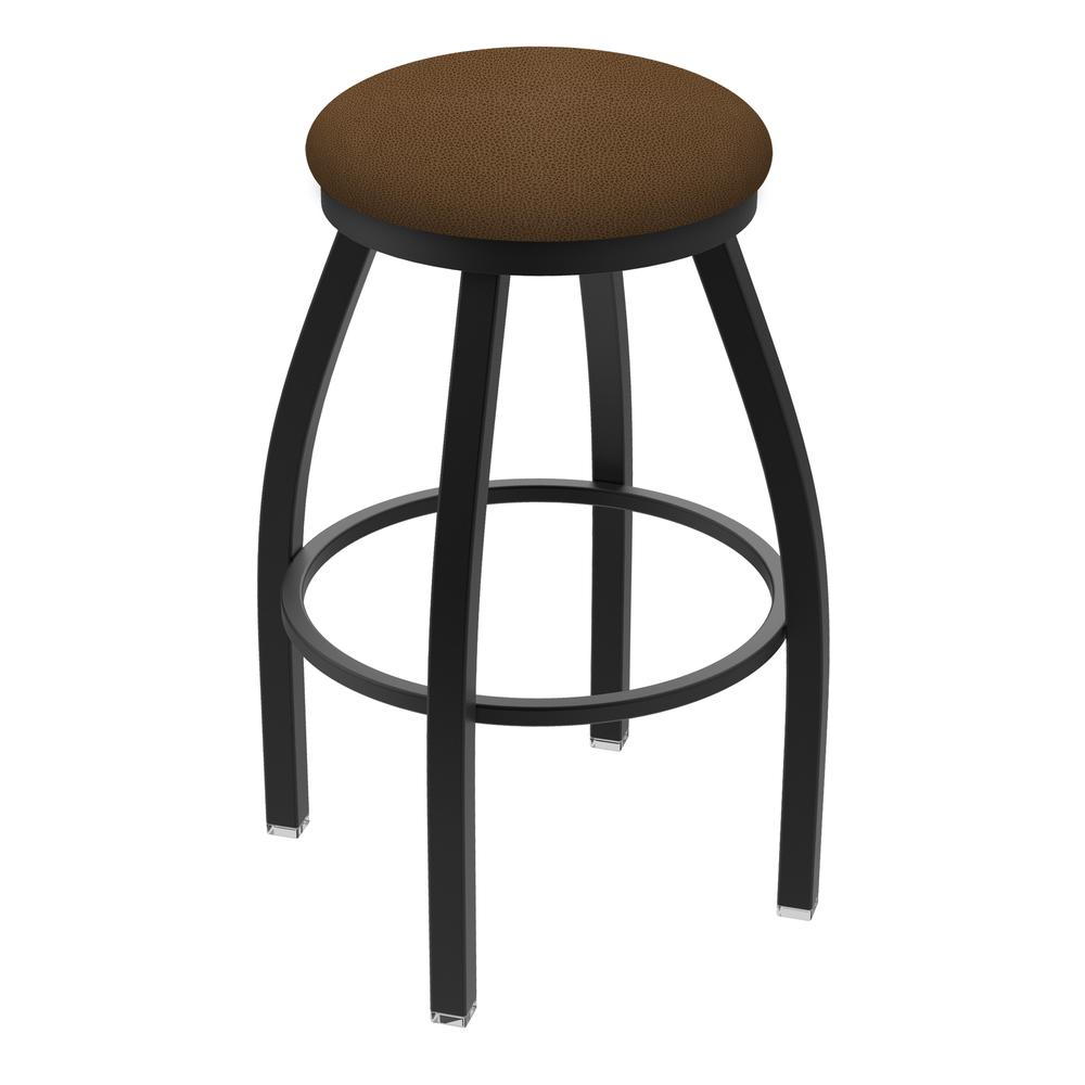 """802 Misha 36"""" Swivel Extra Tall Bar Stool with Black Wrinkle Finish and Rein Thatch Seat. Picture 1"""