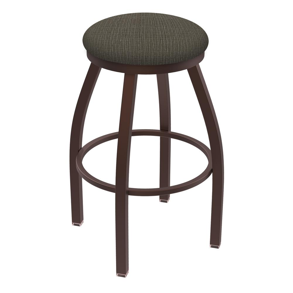 "802 Misha 36"" Swivel Extra Tall Bar Stool with Bronze Finish and Graph Chalice Seat. Picture 1"