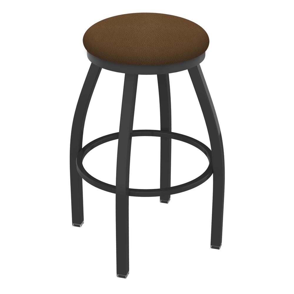 """802 Misha 36"""" Swivel Extra Tall Bar Stool with Pewter Finish and Rein Thatch Seat. Picture 1"""