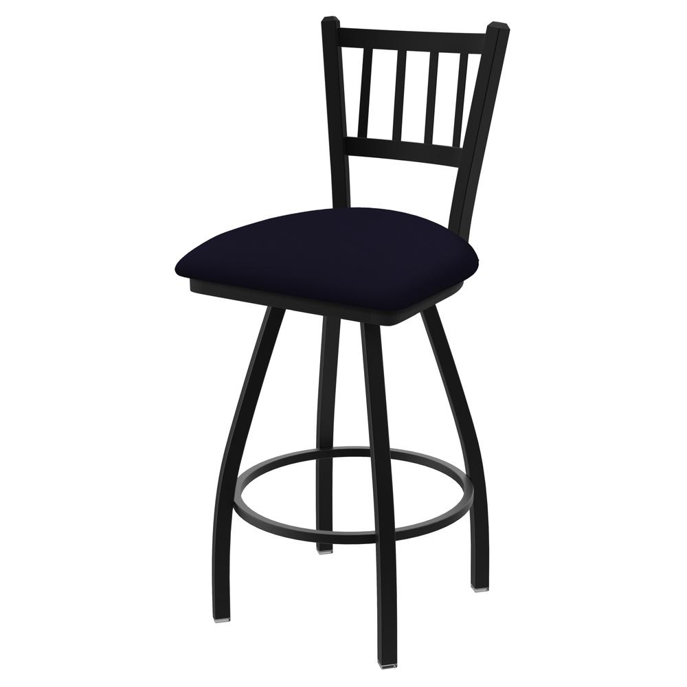 "810 Contessa 36"" Swivel Bar Stool with Black Wrinkle Finish and Canter Twilight Seat. Picture 1"