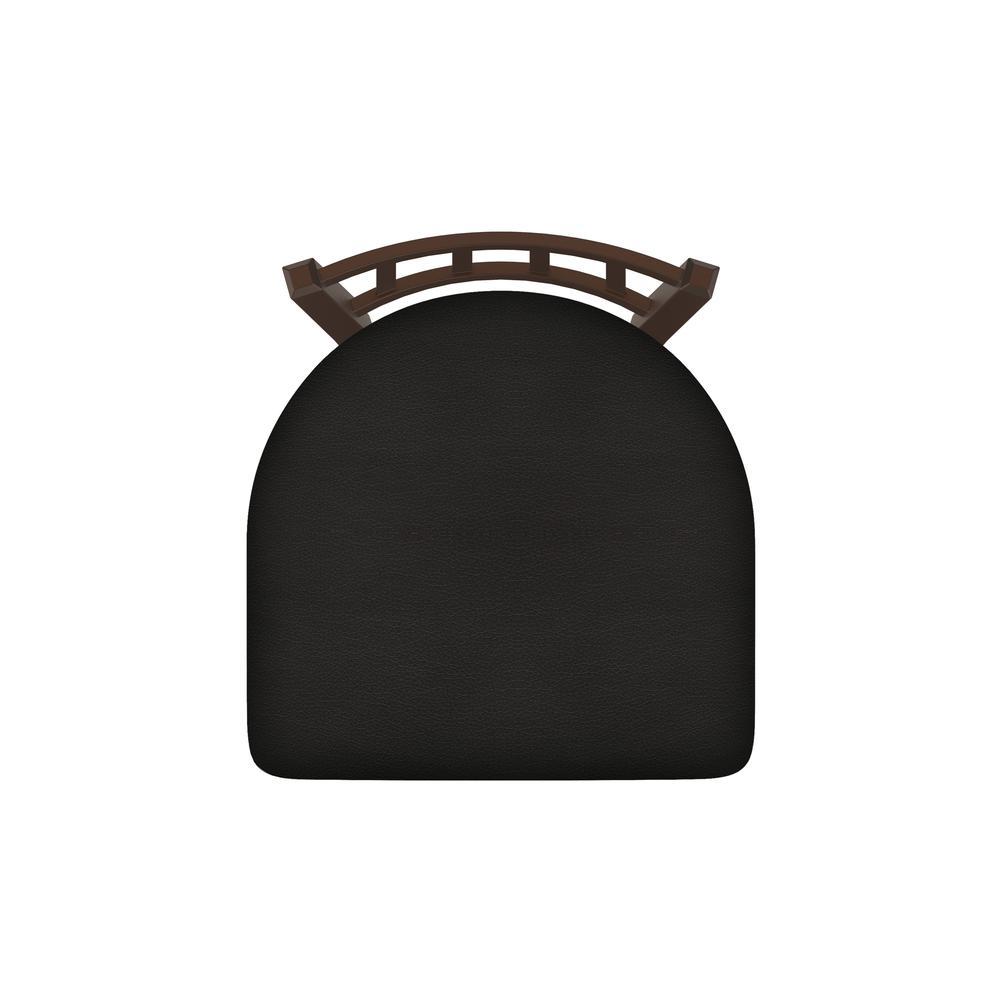 "XL 810 Contessa 25"" Swivel Counter Stool with Bronze Finish and Canter Espresso Seat. Picture 3"
